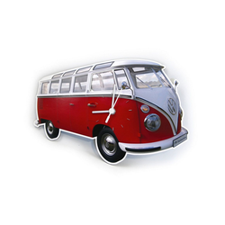 VW Collection by BRISA Wanduhr VW Bulli T1 rot