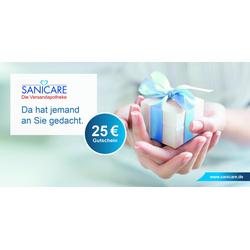 Sanicare Geschenkgutschein 25 Euro