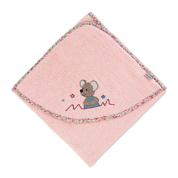 Frottee Badetuch 80 x 80 Mabel Kapuzenbadetücher rosa