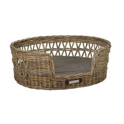 Klassischer Luxury Haustier-Rattankorb Oval, XXL: 95x83x34 / 86x74 cm