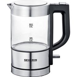 Severin Reise-Wasserkocher Severin Mini Glas-Wasserkocher, 1 l, 1100 W