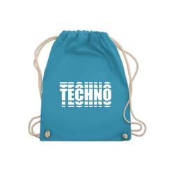 Shirtracer Turnbeutel Techno in Grafischem Muster - Turnbeutel