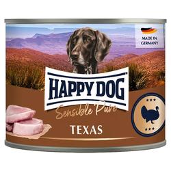 (7,66 EUR/kg) Happy Dog Truthahn Pur 200 g - 12 Stück