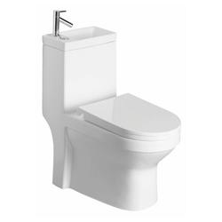HAK Wand-WC-Befestigung HYGIE Kombi -WC, mit Waschbecken, Spülkasten und WC-Sitz