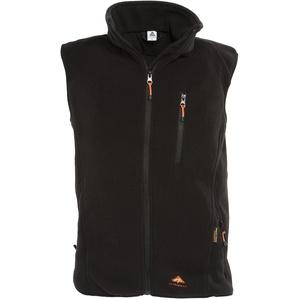 Alpenheat Fire-Fleece schwarz Beheizte Fleece Weste Weste zum Drunterziehen, AJ4G, Größe M