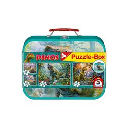 Schmidt Spiele Puzzle-Tasche Puzzlekoffer 2 x 60 + 2 x 100 Teile Dinos