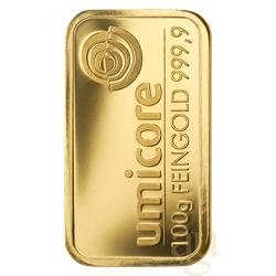 100 Gramm Goldbarren