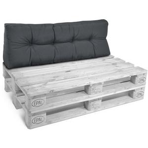 Beautissu Sitzkissen Style, Palettenkissen Rücken 120x40x20cm grau