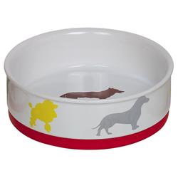 Nobby Hunde Keramiknapf Fun weiß/bunt, Maße: Ø 19,0 x 6,0 cm