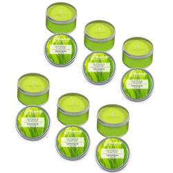 Pillashop Duftkerze Scented Candle in der Dose - 6 x Duft Lemongras Set
