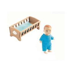 DJECO Puppenhausmöbel Puppenhaus - Baby Sasha