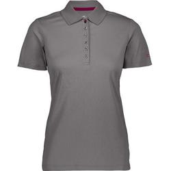 CAMPAGNOLO Poloshirt Campagnolo Polo-Shirt zeitloses Polo-Hemd für Damen UPF 40 Freizeit-Shirt Grau