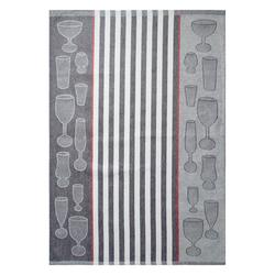 Dyckhoff Geschirrtuch 'Gläser' 50 x 70 cm Anthrazit - Grau
