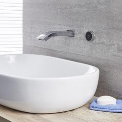 Waschtisch- oder Badewannenhahn Digital in Chrom, Wandmontage - Razor