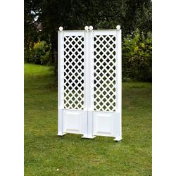 KHW Spalier, 2 St., BxTxH: 43x6x140 cm, weiß