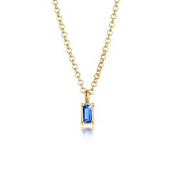 Elli Premium Choker Choker Anhänger Kristall Blau Silber