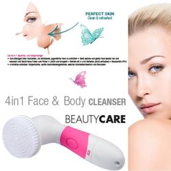 MELISSA Gesichtsreinigungsbürste 16700021 4-in-1 Gesichts- und Körperreiniger Set Gesichtsreinigung-Bürste-Scwamm, 4-tlg.
