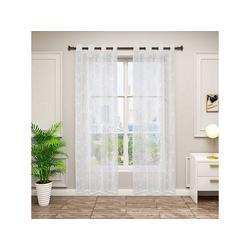 Gardine, Woltu, 2er-Set Gardinen transparent mit Ösen 140 cm x 245 cm