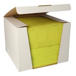 Papstar ROYAL Collection Servietten, 40 x 40 cm, limonengrün, 3-lagige Premium-Servietten in Stoffoptik, 1 Spenderbox = 100 Tücher