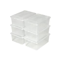tectake Stapelbox Aufbewahrungsboxen 48er Set