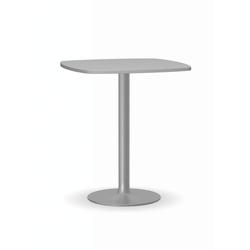 Konferenztisch filip ii, 660 x 660 mm, graue fußgestell, platte graue