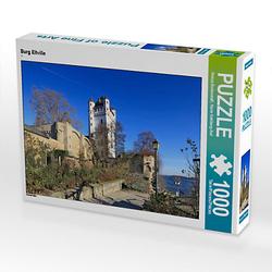 Burg Eltville Lege-Größe 64 x 48 cm Foto-Puzzle Bild von Petrus Bodenstaff Puzzle