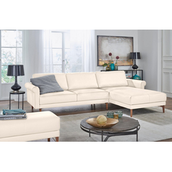 hülsta sofa Ecksofa hs.450, im modernen Landhausstil, Breite 262 cm weiß