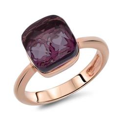 Roséfarbener Ring Silber mit Zirkonia