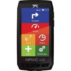CicloSport Navic400 Fahrrad-Navi Wandern, Fahrrad Europa (OpenStreetMaps) Bluetooth®, GPS, inkl. to