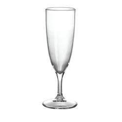GIMEX Sektglas Campinggeschirr Mehrweg Kunststoff Sektglas 0,1l klar einzeln (1-tlg), Kunststoff
