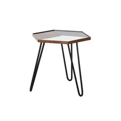 dynamic24 Beistelltisch, 3D Beistelltisch Couchtisch Wohnzimmer Holz Spiegeltisch Tisch Mango Nachttisch