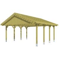 SKANHOLZ Sauerland Doppel 6,20 x 6,00 m imprägniert inkl. Dachlattung