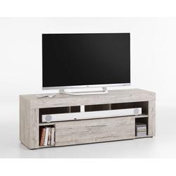 TV-Lowboard TV-Board Multimedia Lowboard in Sandeiche-Nachbildung mit 5 Fächern und 1 Schubkasten, Maße: B/H/T ca. 150/53/41,5 cm