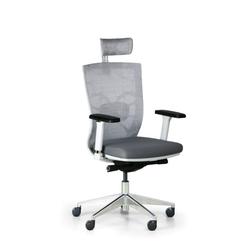 Bürostuhl designo, weiß/grau