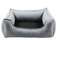 Wolters Dog Lounge Noble Stripes denim/granit 105 x 80 cm