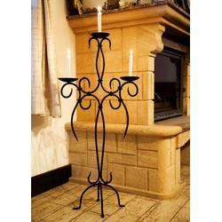 DanDiBo Kerzenständer Kerzenständer Artus 100 cm Schmiedeeisen 21216 Kerzenleuchter Kerzenhalter Metall