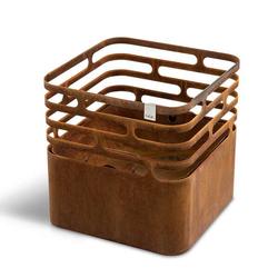 Höfats Cube Feuerkorb rostig