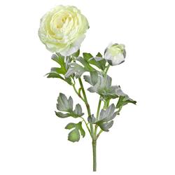 Kunstblume Ranunkeln Blüten & Knospen 1 Stk ca 40 cm cremeweiß Ranunkeln, matches21 HOME & HOBBY, Höhe 40 cm, Indoor