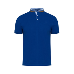Lavard Blaues Herren-Poloshirt mit Stehkragen 72893
