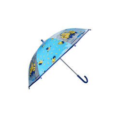 Minions Stockregenschirm Kinder Regenschirm, 73 cm, PVC, blau/transparent