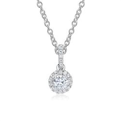 750er Weißgoldkette Anhänger mit Diamanten