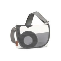 360Grad Umhängetasche 360 Grad Damen Tasche Umhängetasche Perle grau/weiß mit Zahl und Gurt in grau Segeltuch maritim