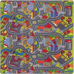 Kinderteppich Straße, Andiamo, rechteckig, Höhe 5 mm, Straßen-Spielteppich, Straßenbreite: 8,5 cm, Kinderzimmer 200 cm x 200 cm x 5 mm