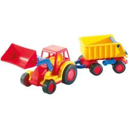 Wader Basics Traktor mit Schaufel und Anhänger