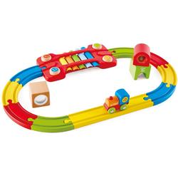Hape Spielzeug-Eisenbahn Eisenbahn der Sinne-Set, (Set), aus Holz
