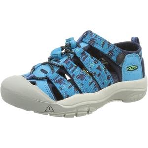 KEEN Newport H2 Sandal, Vivid Blue/Katydid, 30 EU