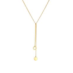 Elli Elli Halskette Y-Kette Kreis Plättchen Geo Trend Boho 925 Silber
