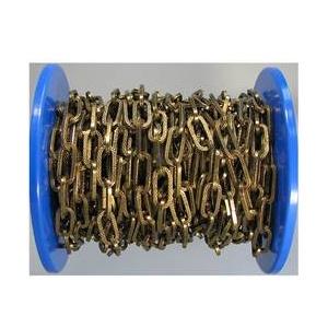 dörner + helmer 153727 Zierkette Alt-Messing Stahl 20 m Alt-Messing