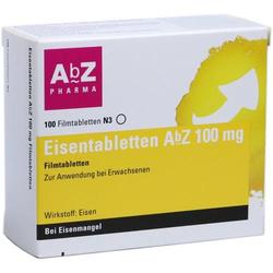 EISENTABLETTEN AbZ 100 mg Filmtabletten 100 St