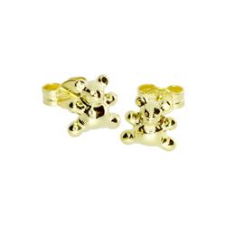 Ohrstecker - Teddy - Gold 333/000 - , OSTSEE-SCHMUCK gold